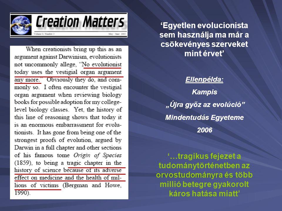 """""""Újra győz az evolúció"""