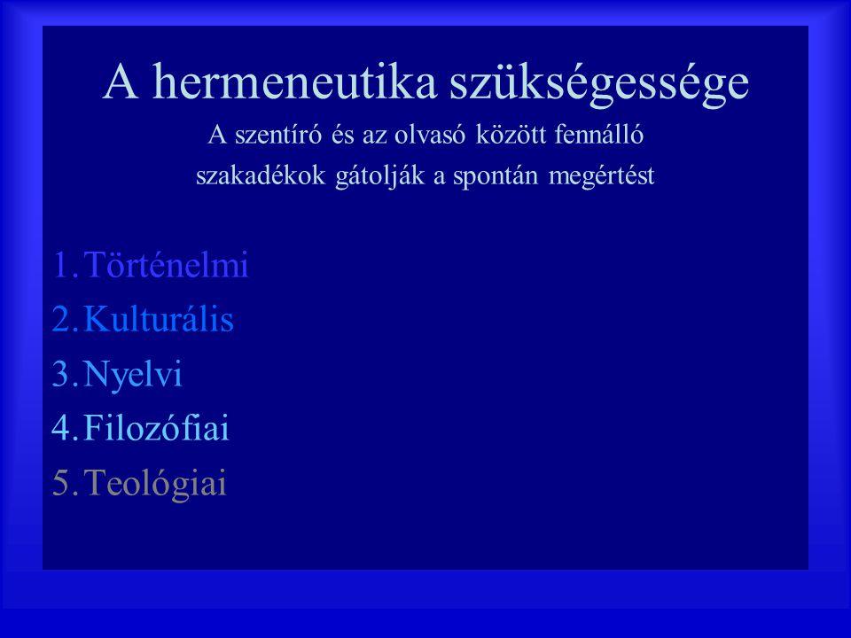 A hermeneutika szükségessége