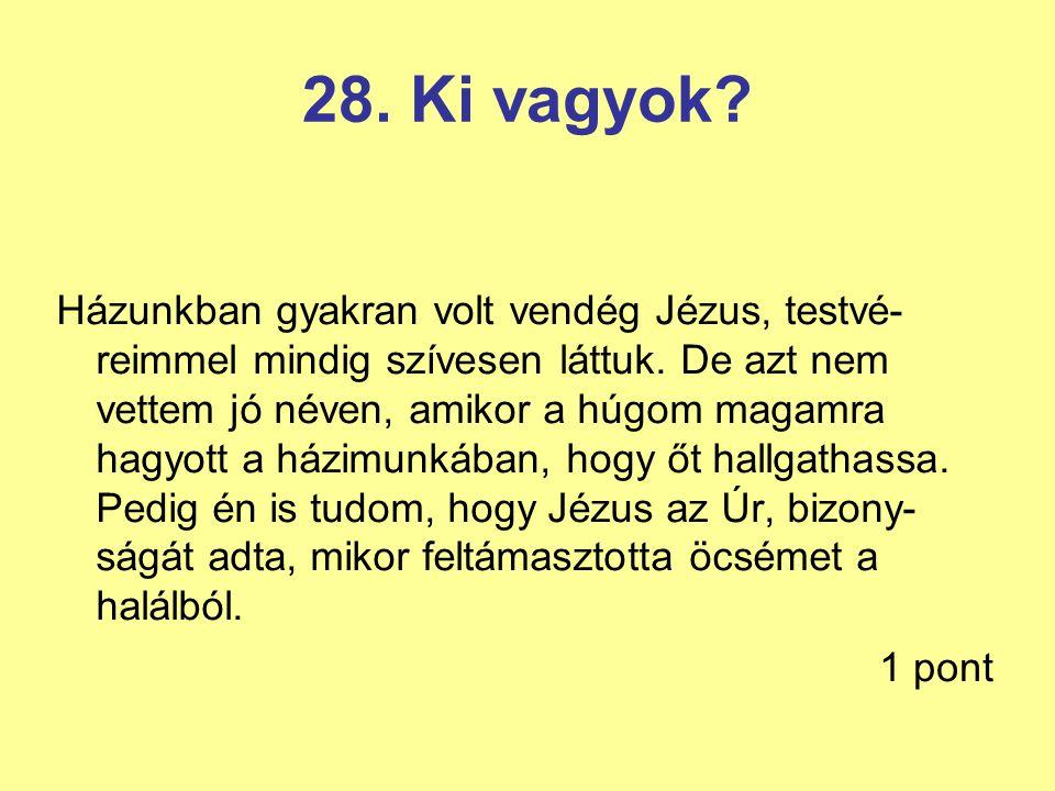 28. Ki vagyok