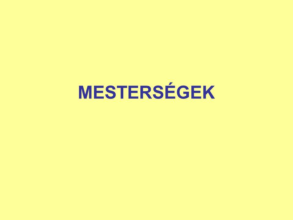 MESTERSÉGEK