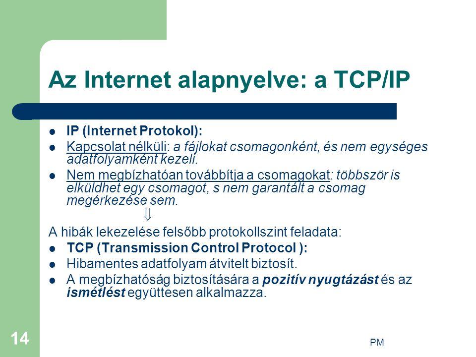 Az Internet alapnyelve: a TCP/IP
