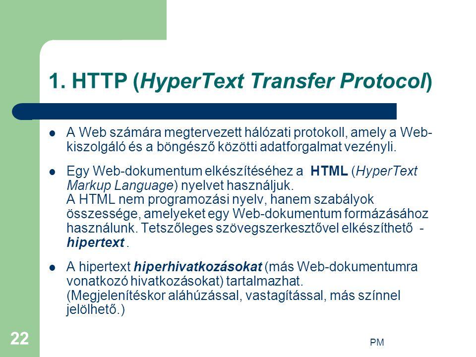 1. HTTP (HyperText Transfer Protocol)