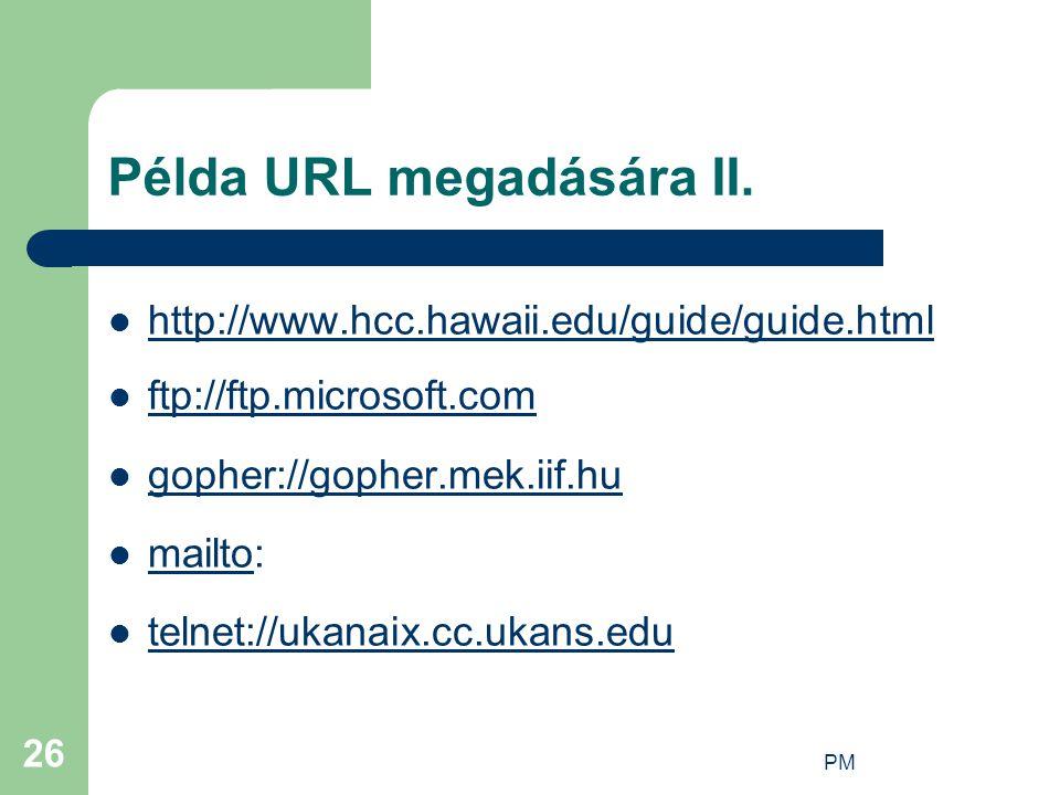 Példa URL megadására II.