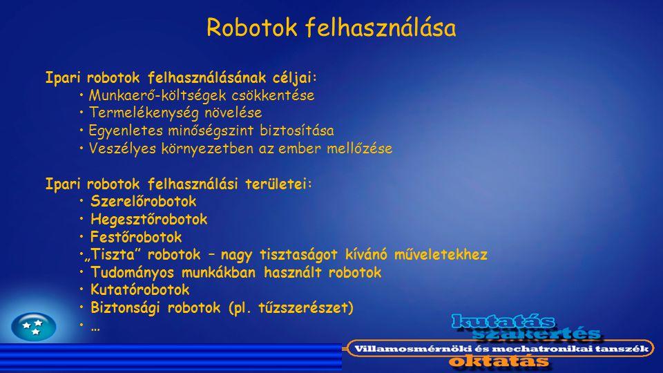 Robotok felhasználása