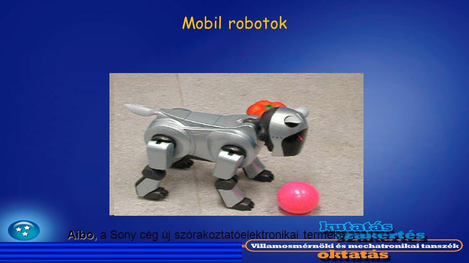 Mobil robotok Aibo, a Sony cég új szórakoztatóelektronikai terméke