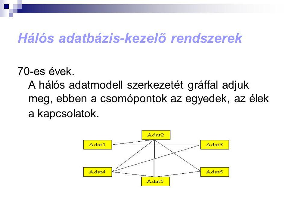 Hálós adatbázis-kezelő rendszerek