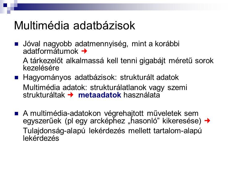 Multimédia adatbázisok