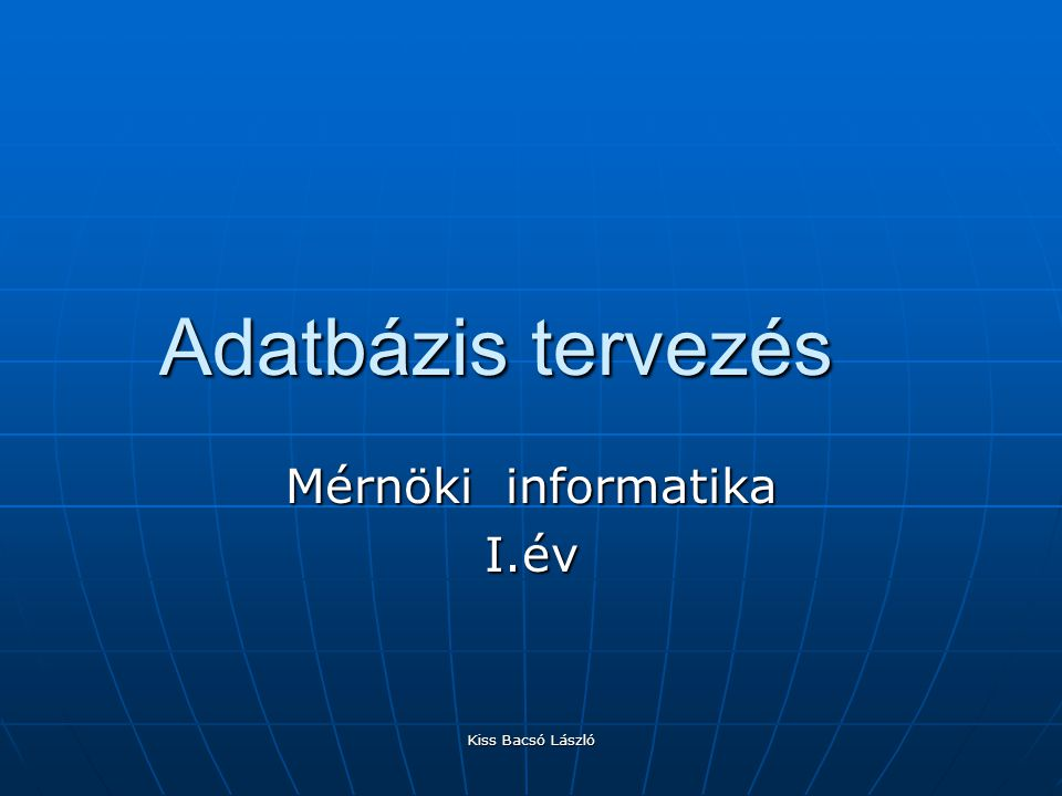 Mérnöki informatika I.év