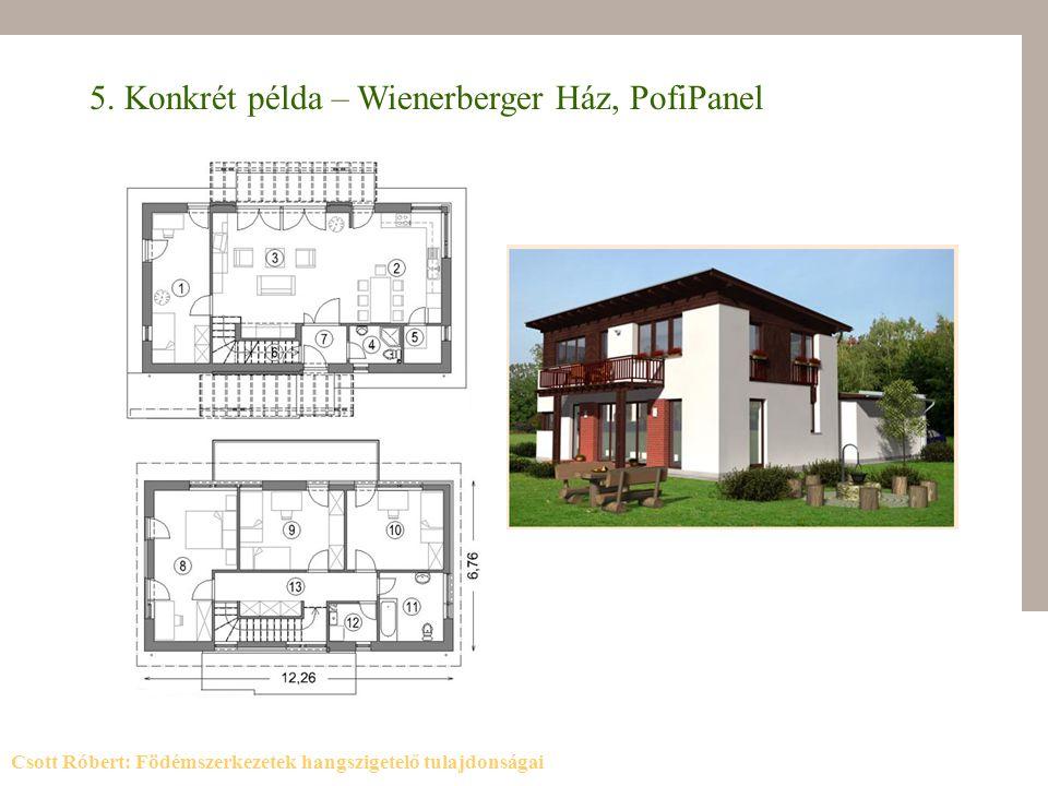 5. Konkrét példa – Wienerberger Ház, PofiPanel
