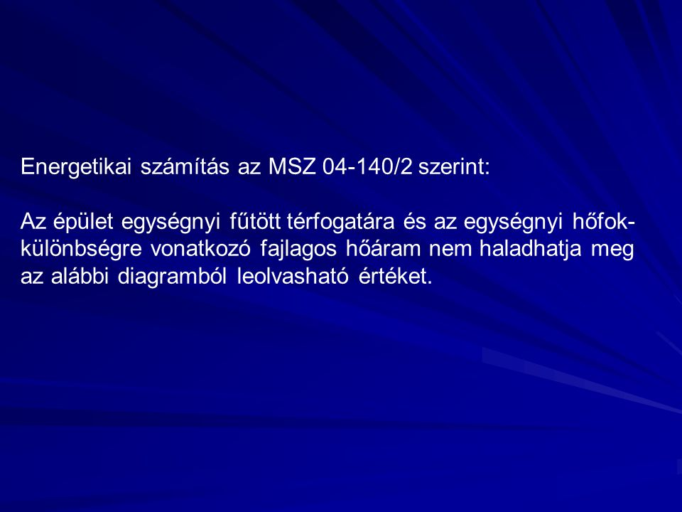 Energetikai számítás az MSZ 04-140/2 szerint: