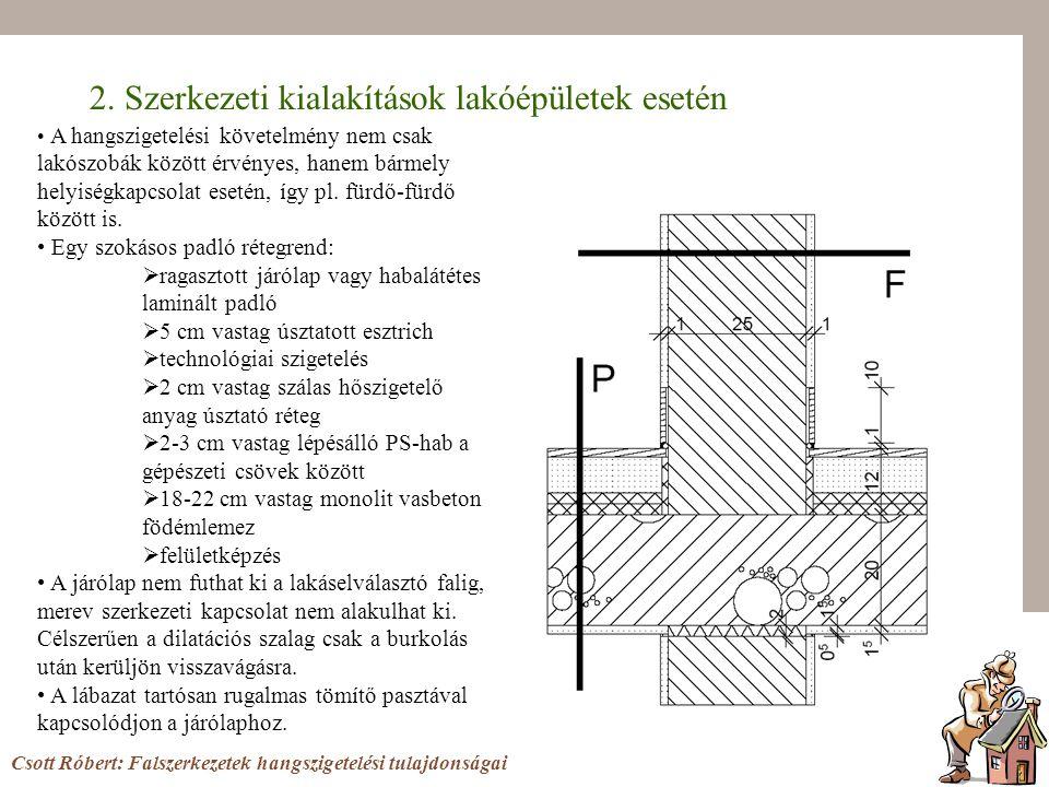 2. Szerkezeti kialakítások lakóépületek esetén