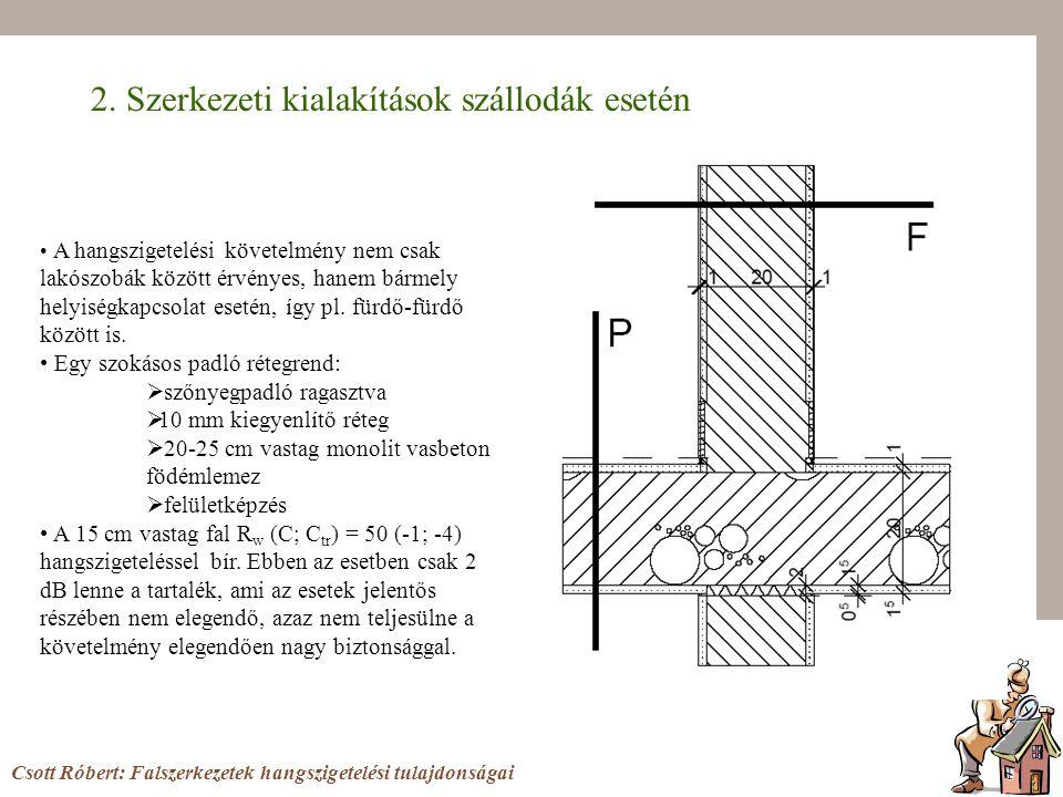 2. Szerkezeti kialakítások szállodák esetén