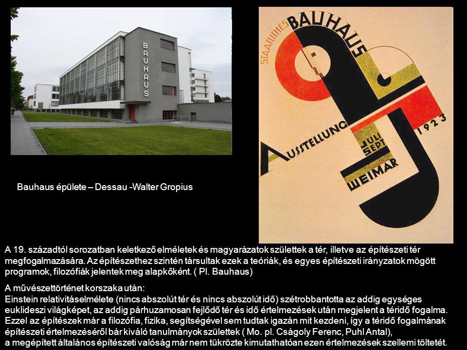 Bauhaus épülete – Dessau -Walter Gropius