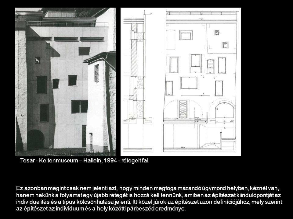 Tesar - Keltenmuseum – Hallein, 1994 - rétegelt fal