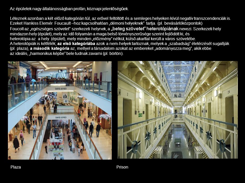 Az épületek nagy általánosságban profán, köznapi jelentőségűek.