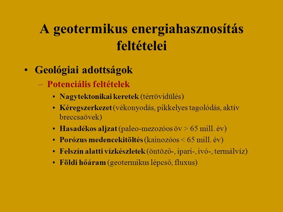 A geotermikus energiahasznosítás feltételei