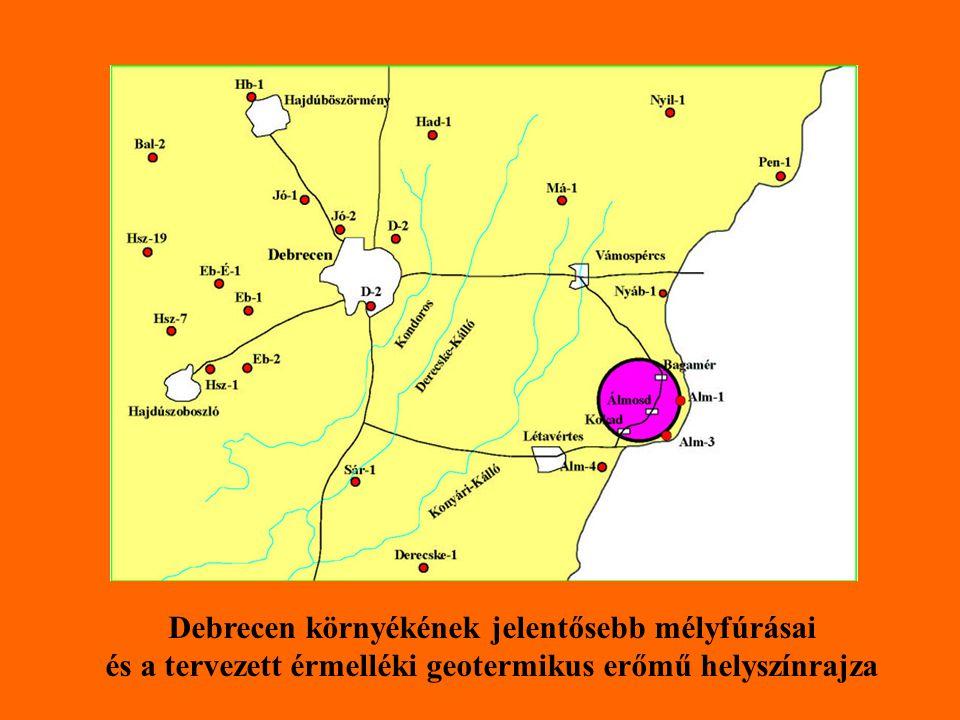 Debrecen környékének jelentősebb mélyfúrásai