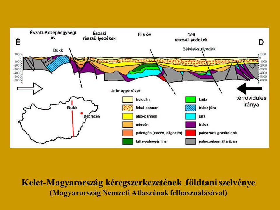 Kelet-Magyarország kéregszerkezetének földtani szelvénye