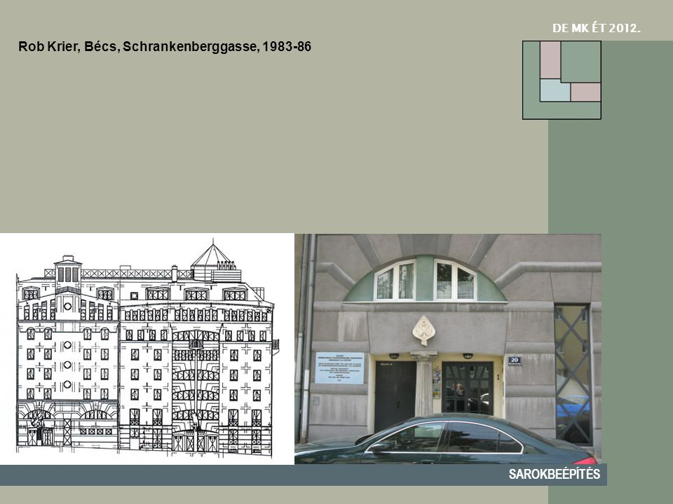 Rob Krier, Bécs, Schrankenberggasse, 1983-86
