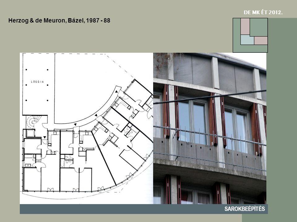 Herzog & de Meuron, Bázel, 1987 - 88