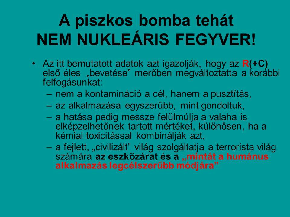 A piszkos bomba tehát NEM NUKLEÁRIS FEGYVER!