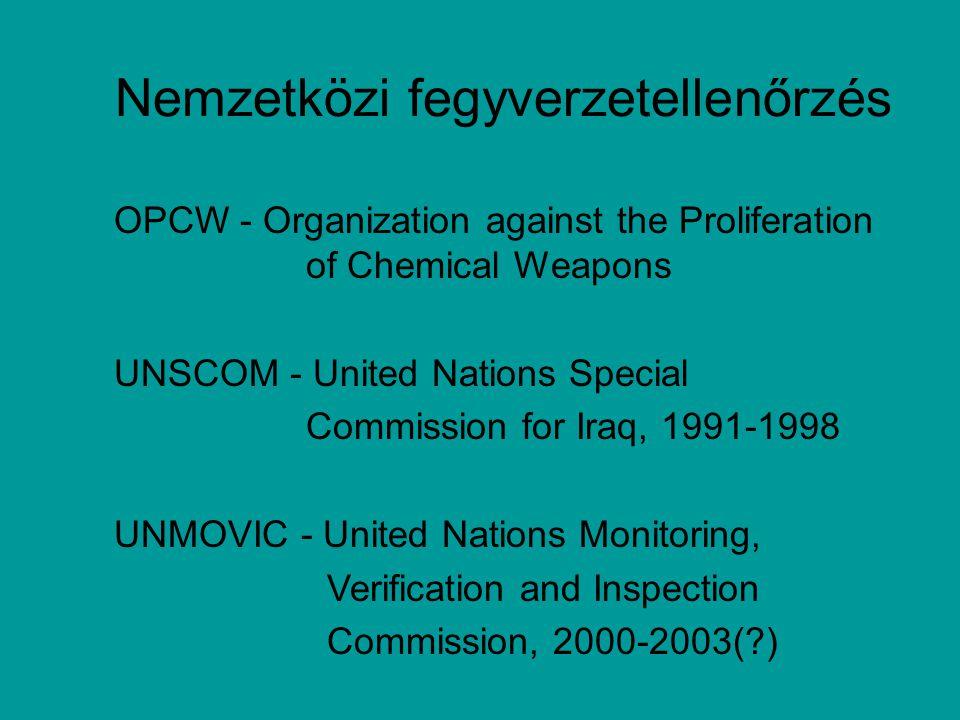 Nemzetközi fegyverzetellenőrzés
