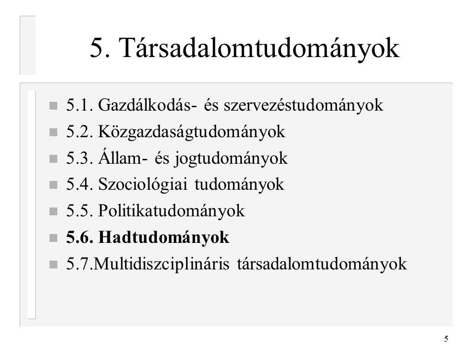 5. Társadalomtudományok