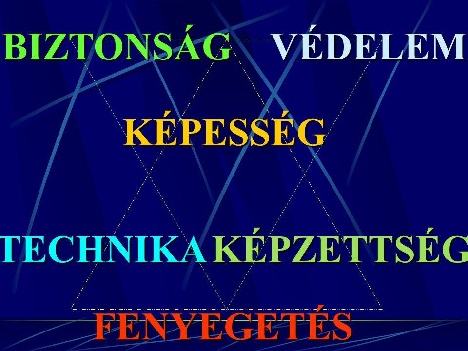 BIZTONSÁG VÉDELEM KÉPESSÉG TECHNIKA KÉPZETTSÉG FENYEGETÉS