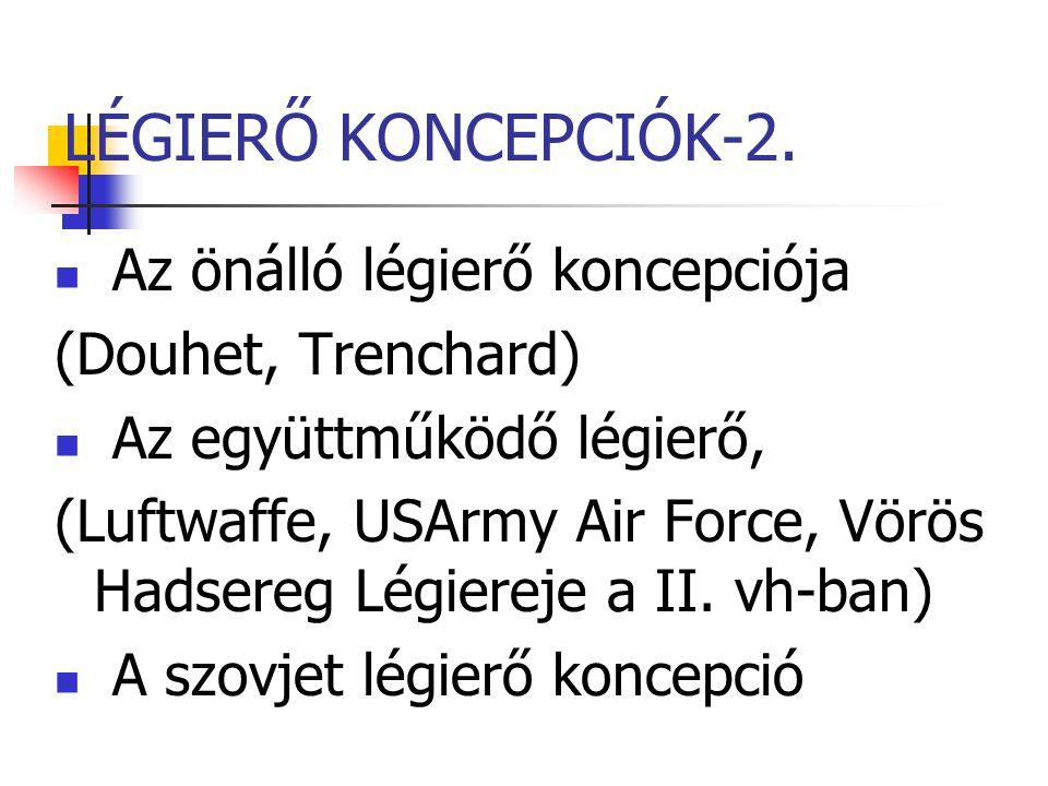 LÉGIERŐ KONCEPCIÓK-2. Az önálló légierő koncepciója