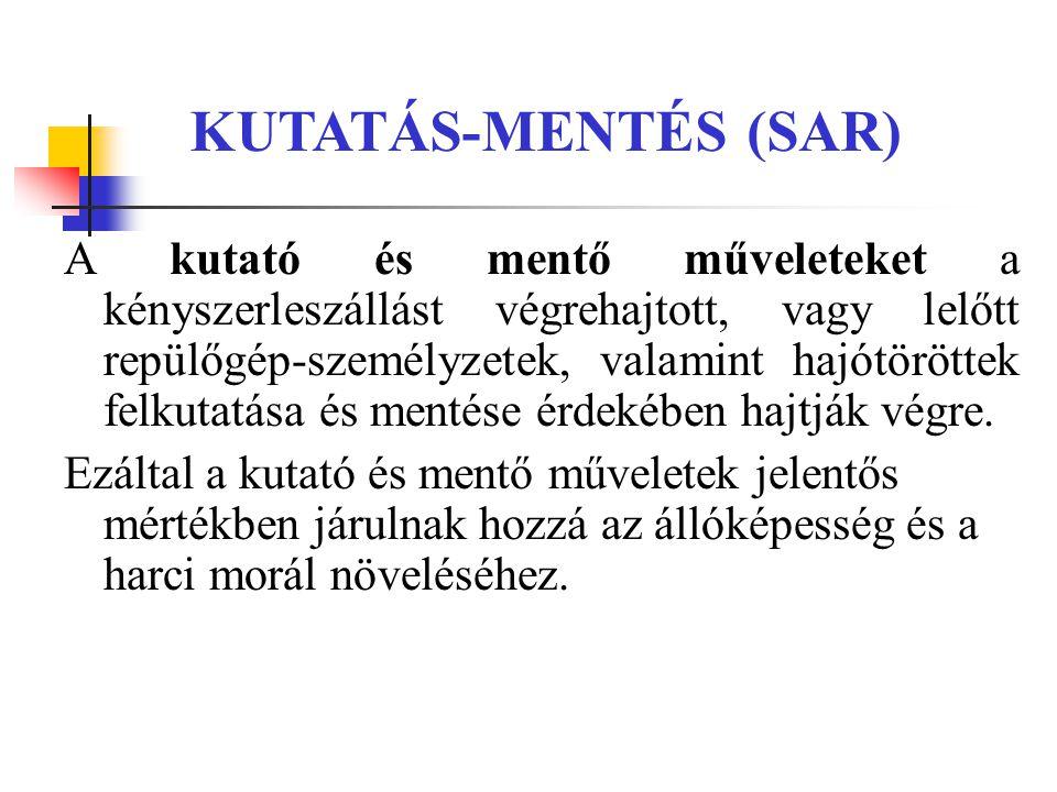 KUTATÁS-MENTÉS (SAR)