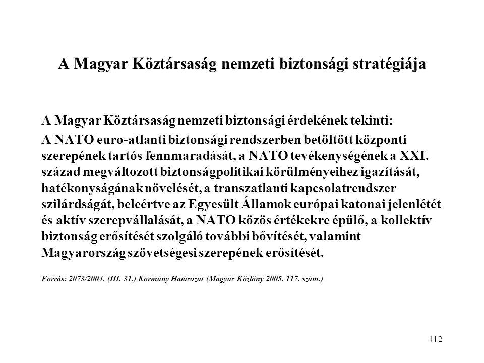 A Magyar Köztársaság nemzeti biztonsági stratégiája