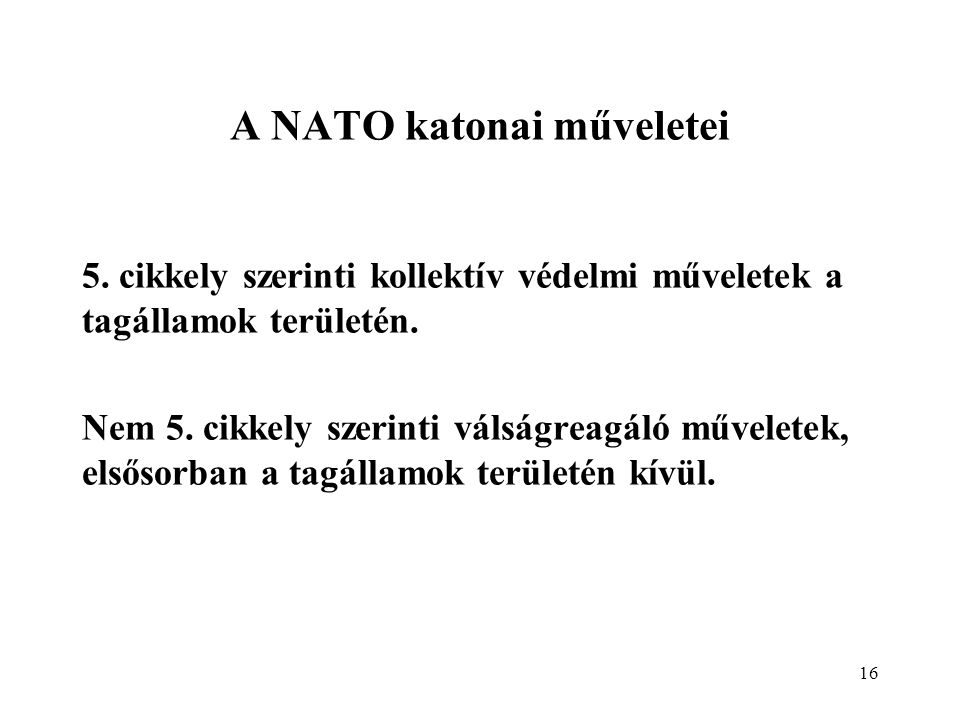 A NATO katonai műveletei