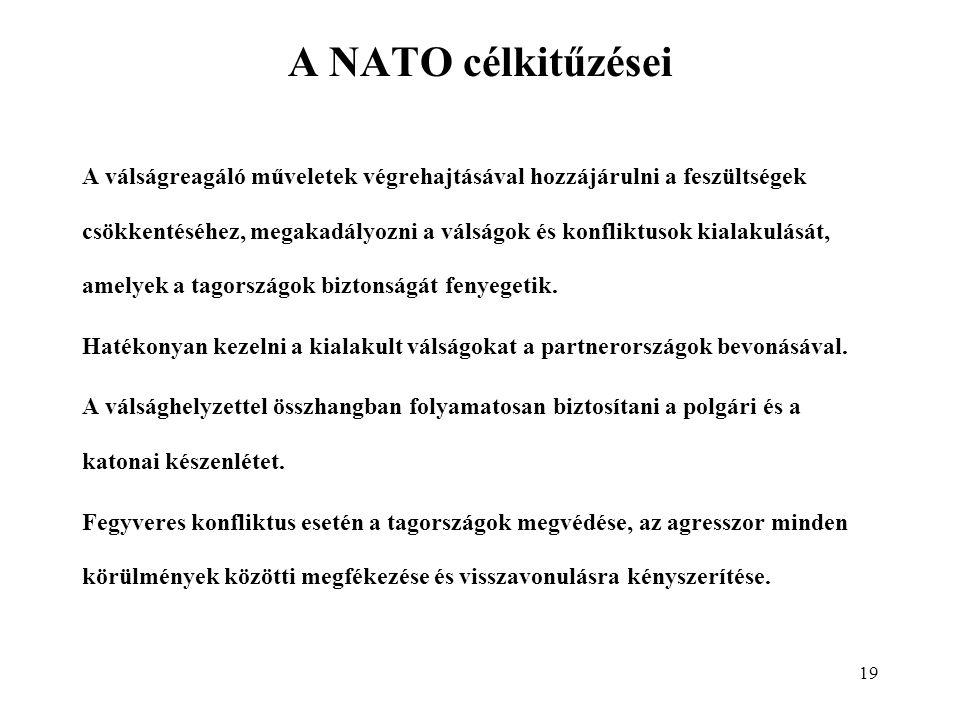 A NATO célkitűzései