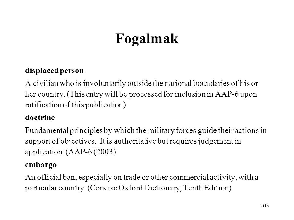 Fogalmak displaced person