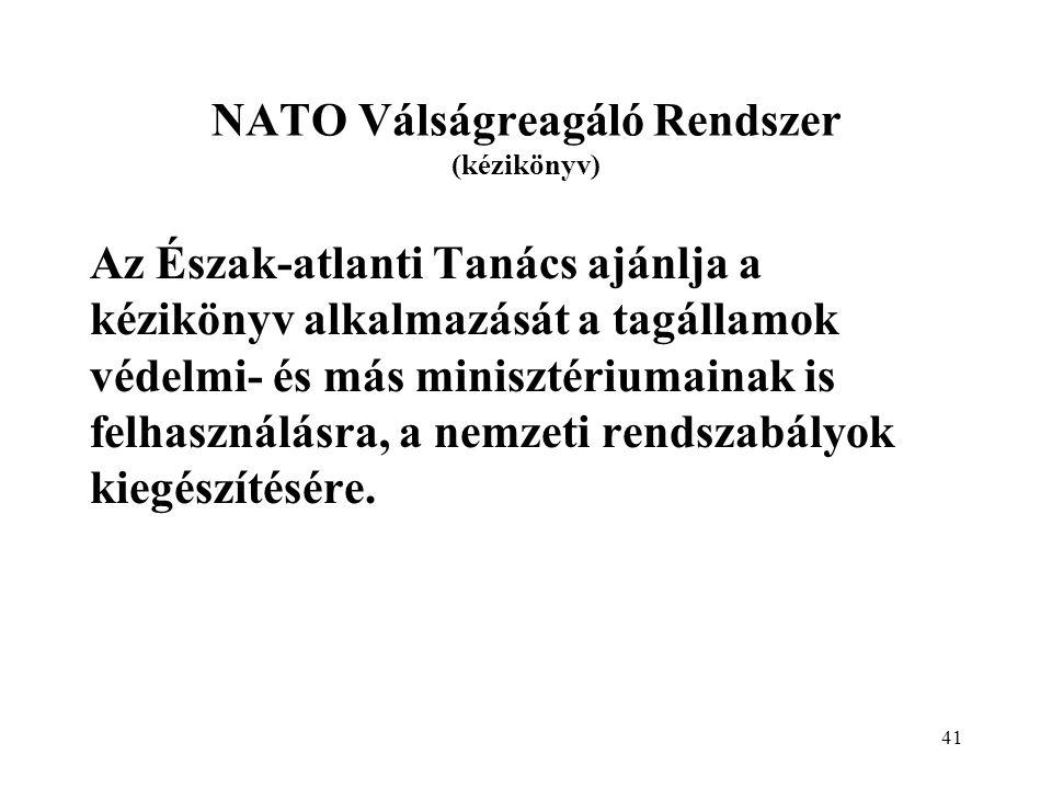 NATO Válságreagáló Rendszer (kézikönyv)