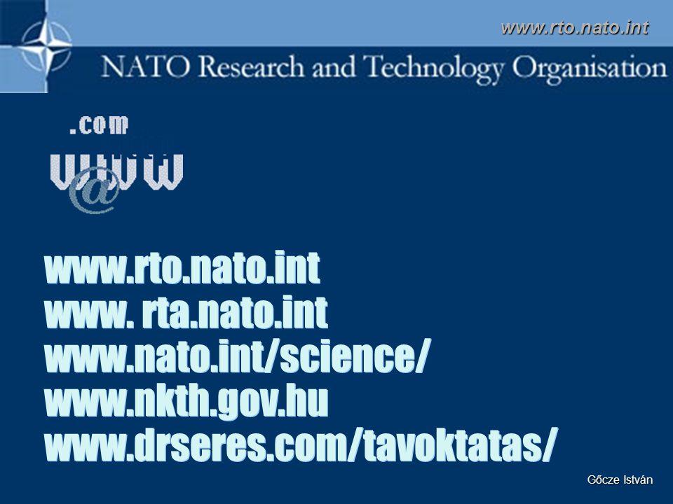 www.rto.nato.int www.rto.nato.int www. rta.nato.int www.nato.int/science/ www.nkth.gov.hu www.drseres.com/tavoktatas/