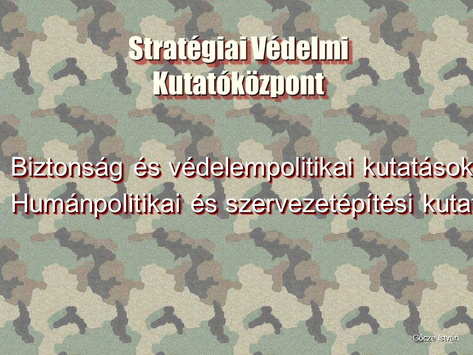 Stratégiai Védelmi Kutatóközpont