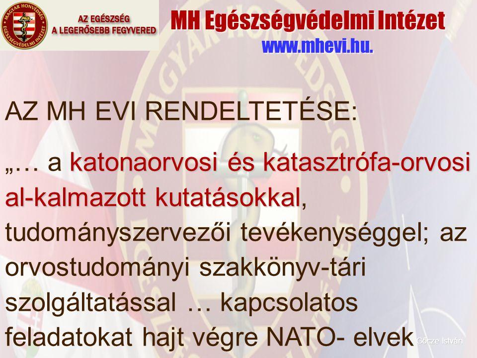 MH Egészségvédelmi Intézet www.mhevi.hu.