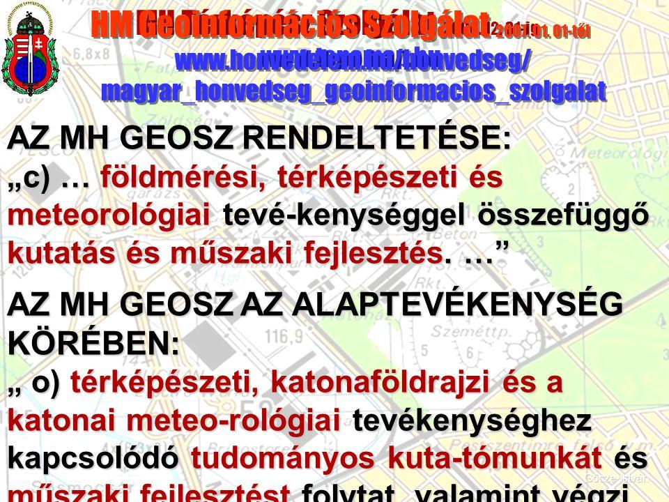 MH Térképész Szolgálat 2006. 12. 31-ig www.topomap.hu