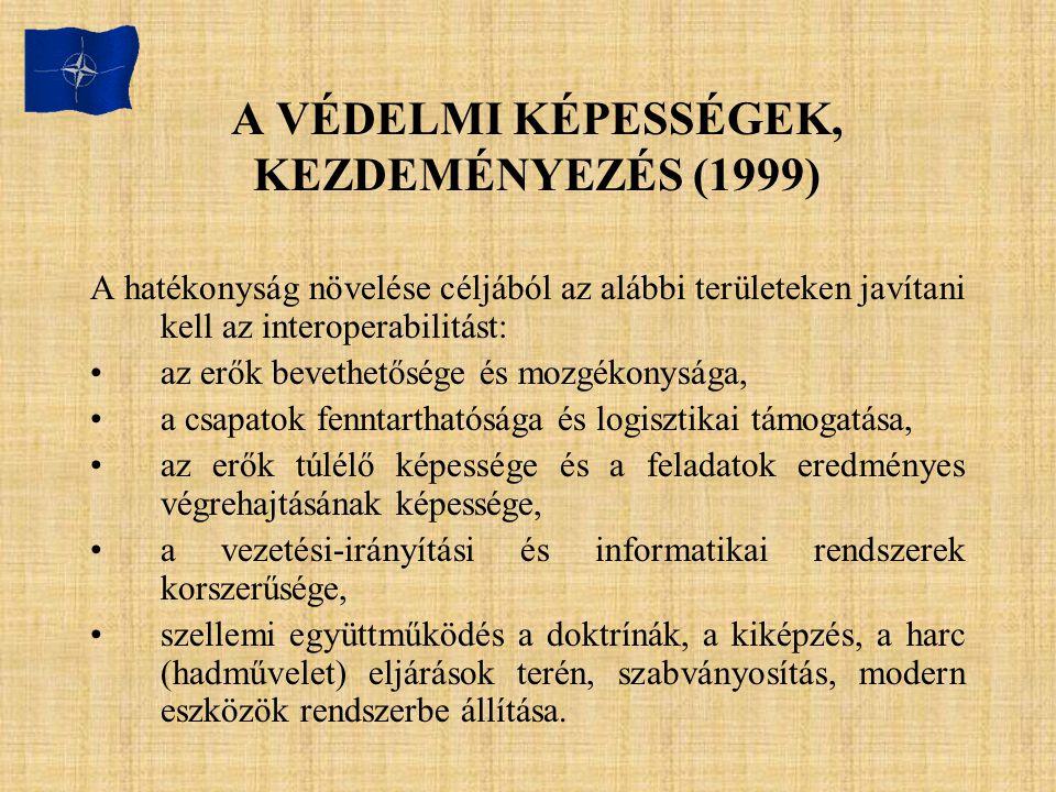 A VÉDELMI KÉPESSÉGEK, KEZDEMÉNYEZÉS (1999)