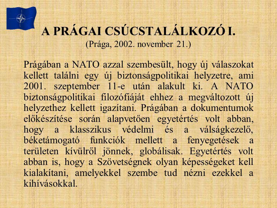 A PRÁGAI CSÚCSTALÁLKOZÓ I. (Prága, 2002. november 21.)