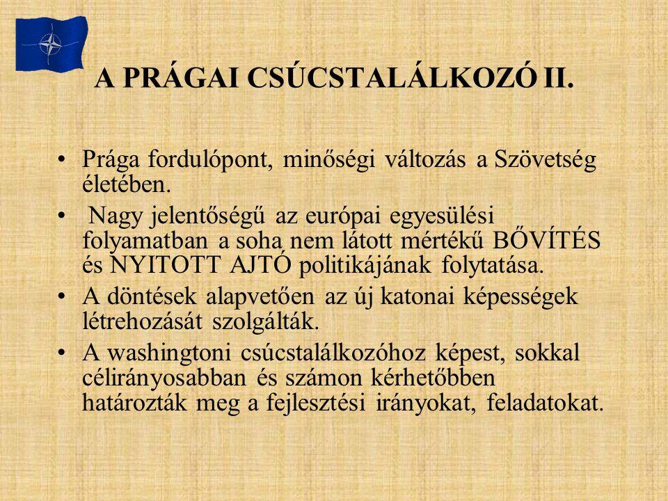 A PRÁGAI CSÚCSTALÁLKOZÓ II.