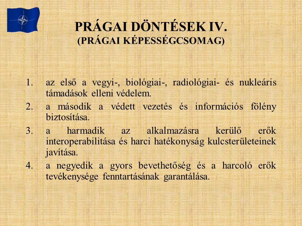 PRÁGAI DÖNTÉSEK IV. (PRÁGAI KÉPESSÉGCSOMAG)
