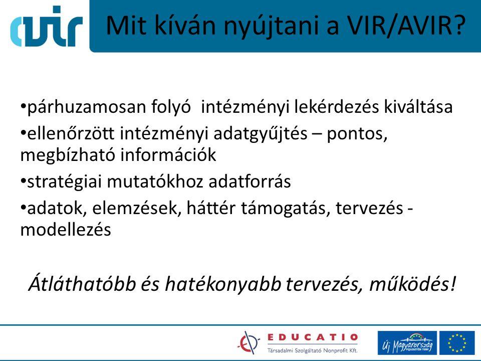 Mit kíván nyújtani a VIR/AVIR