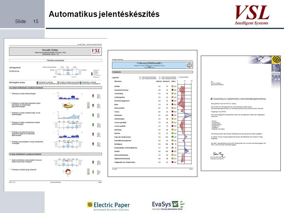 Automatikus jelentéskészítés
