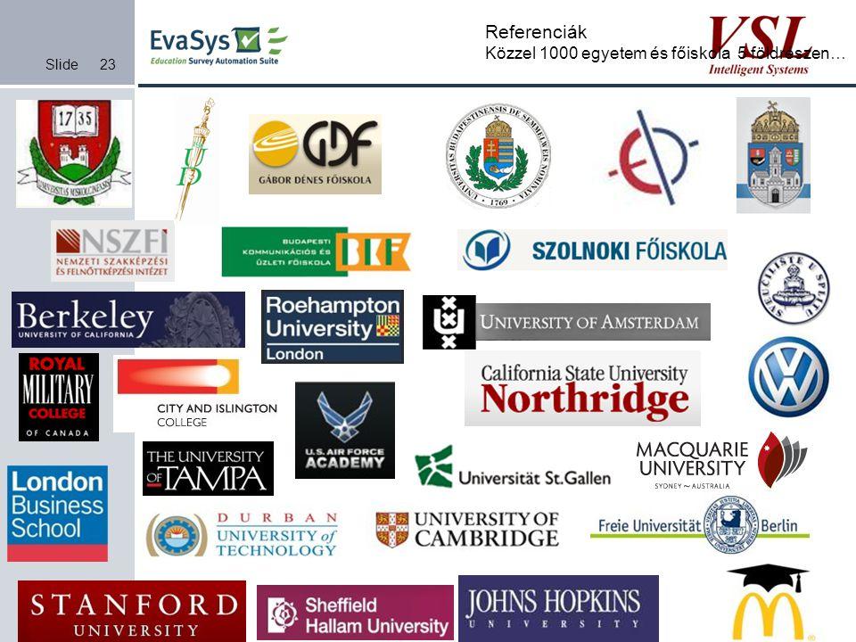 Referenciák Közzel 1000 egyetem és főiskola 5 földrészen…