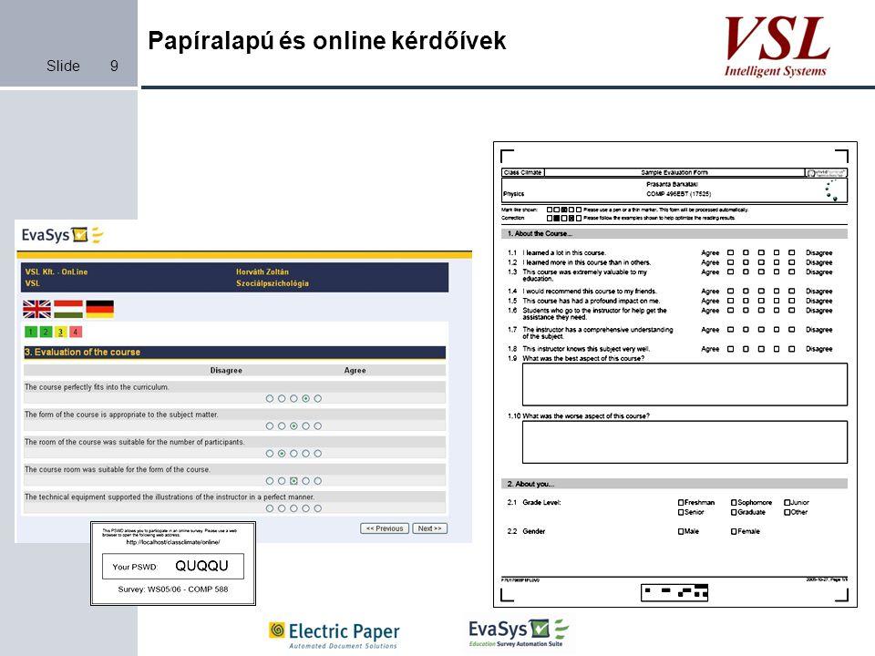 Papíralapú és online kérdőívek
