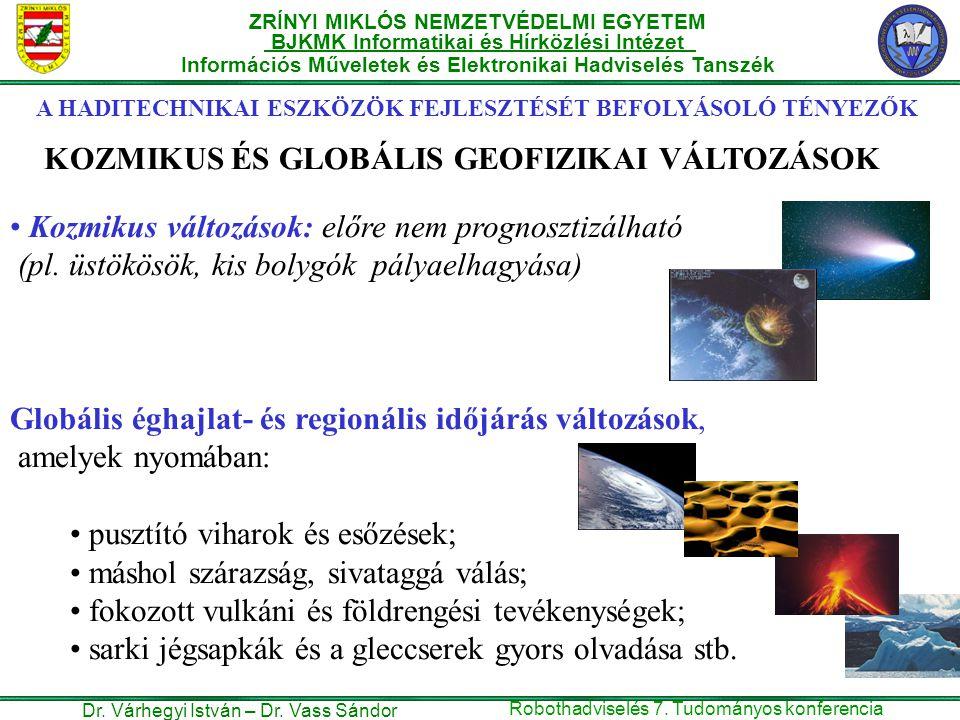 KOZMIKUS ÉS GLOBÁLIS GEOFIZIKAI VÁLTOZÁSOK