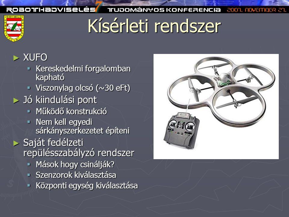 Kísérleti rendszer XUFO Jó kiindulási pont