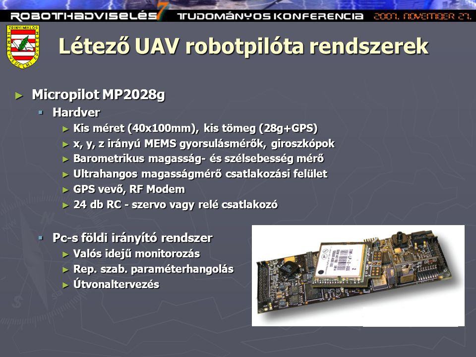 Létező UAV robotpilóta rendszerek